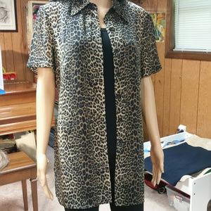 Dani Max leopard print tunic.Size 12